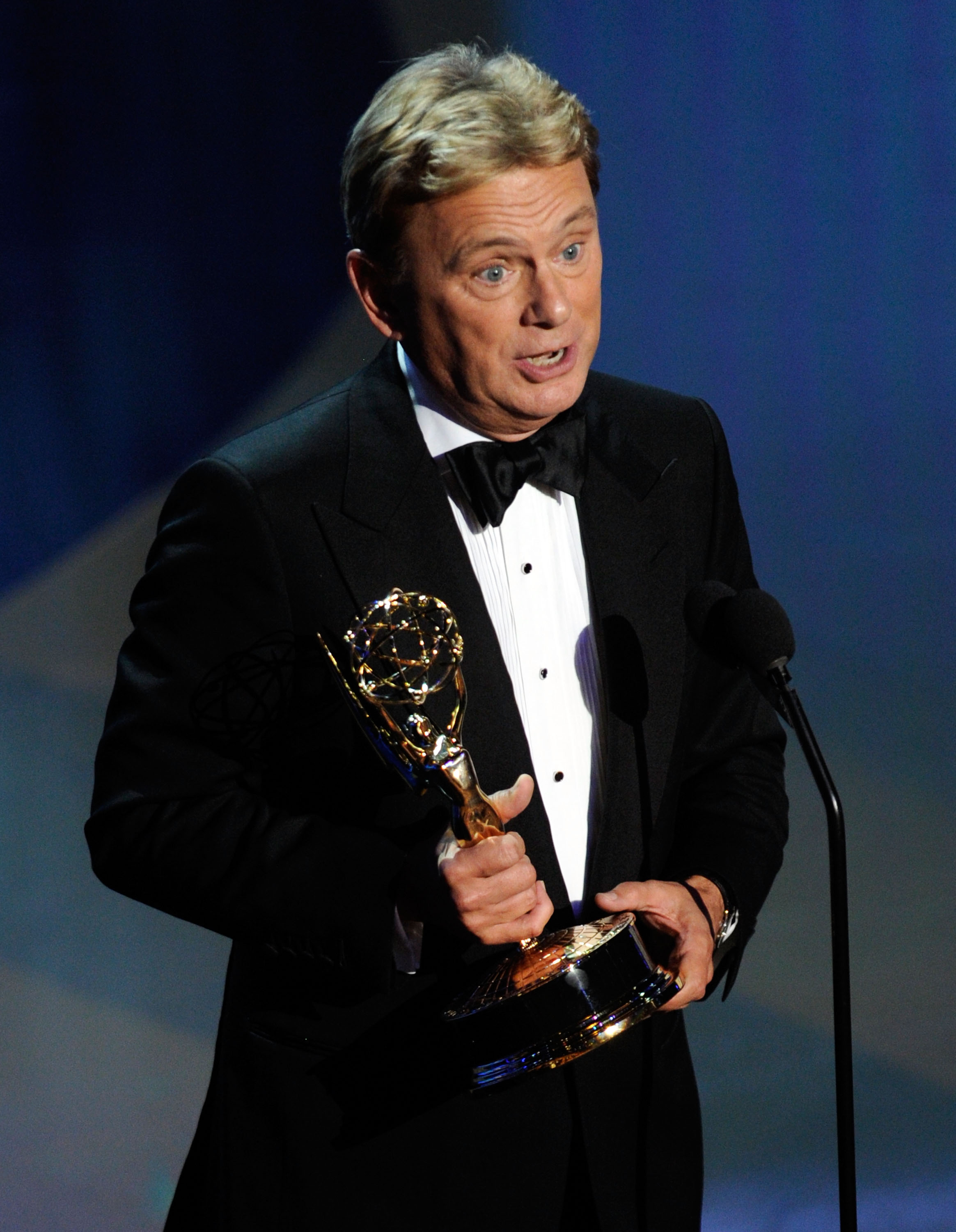 LAS VEGAS, NV - JUNE 19: Pat Sajak accepts the Lifetime Achievement Award onstage during the 38th Annual Daytime Entertainment Emmy Awards held at the Las Vegas Hilton on June 19, 2011 in Las Vegas, Nevada. (Photo by Ethan Miller/Getty Images)