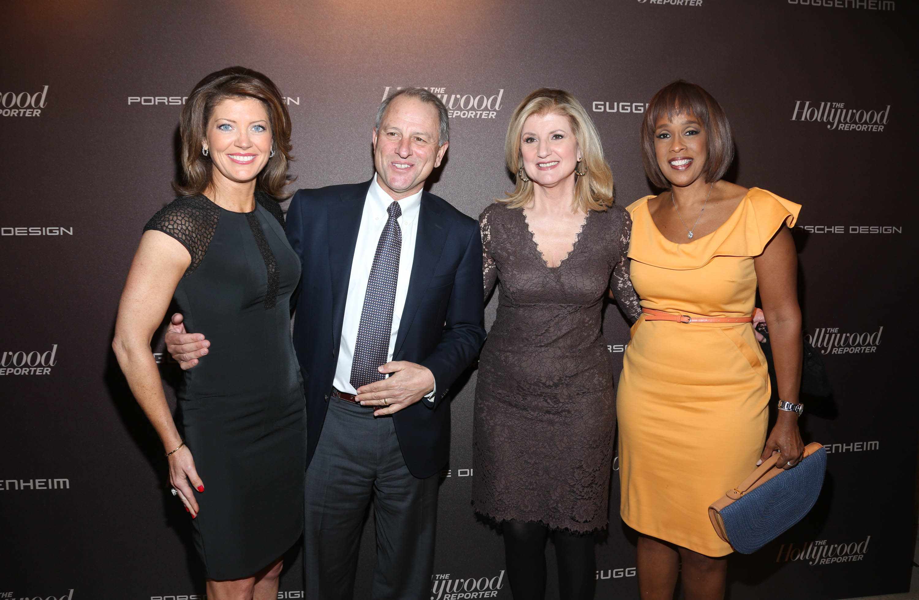 NEW YORK, NY - APRIL 16: Norah O'Donnell, Jeff Fager, Arianna Huffington and Gayle King attend The Hollywood Reporter 35 Most Powerful People In Media Celebration at The Four Seasons Restaurant on April 16, 2014 in New York City. (Photo by Rob Kim/Getty Images)