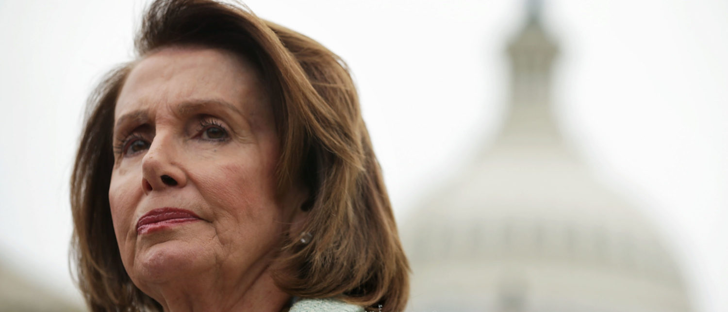WASHINGTON, DC - APRIL 21: U.S. House Minority Leader Rep. Nancy Pelosi (D-CA) listens during a news conference April 21, 2016 on Capitol Hill in Washington, DC. Congressional Democrats held a news conference to call for a raise in the federal minimum wage. (Photo by Alex Wong/Getty Images)