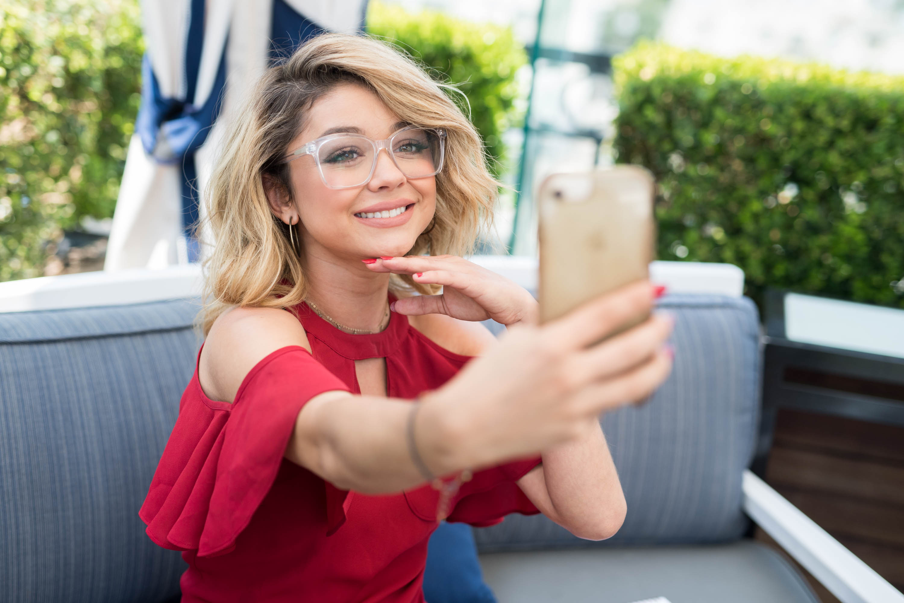 WEST HOLLYWOOD, CA - JULY 17: Actress Sarah Hyland attends Candie's event at The London Hotel on July 17, 2017 in West Hollywood, California. (Photo by Emma McIntyre/Getty Images for Candie's)