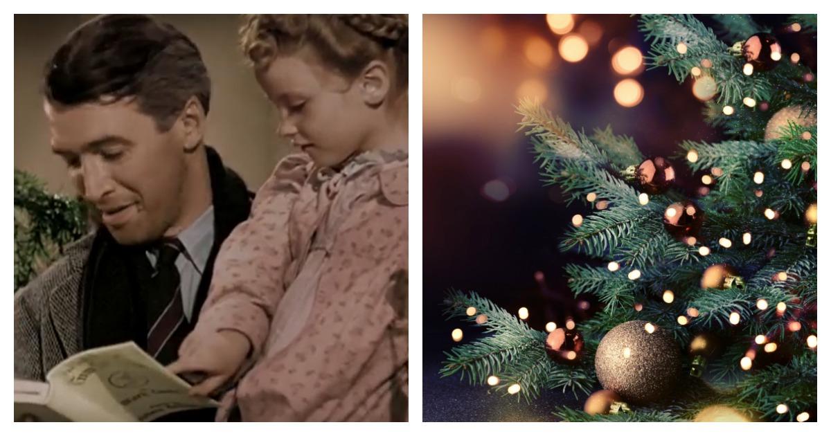 The classic Christmas movie premiered on Dec. 20, 1946. Left, Screenshot/ Youtube via Living Dead TV/ Right, SHUTTERSTOCK/IgorAleks