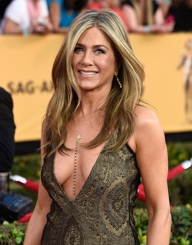 Actress Jennifer Aniston attends the 21st Annual Screen Actors Guild Awards at The Shrine Auditorium on January 25, 2015 in Los Angeles,California. (Photo by Frazer Harrison/Getty Images)