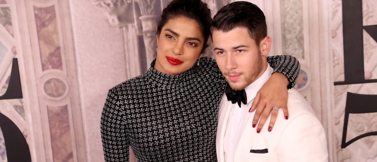 NEW YORK, NY - SEPTEMBER 07: Priyanka Chopra and Nick Jonas attend the Ralph Lauren fashion show during New York Fashion Week at Bethesda Terrace on September 7, 2018 in New York City. (Rob Kim/Getty Images)