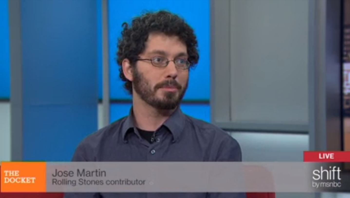 "Jose Martin Appearance on MSNBC's ""The Docket"" Jan. 6, 2015 (Source: MSNBC.com/Screenshot)"