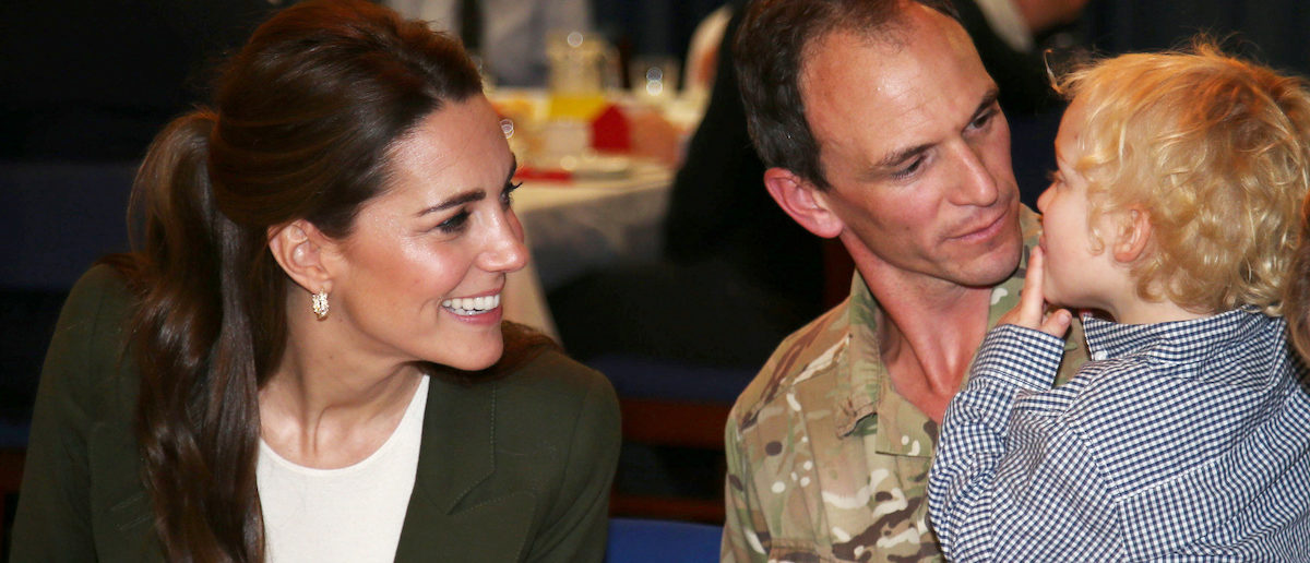 Britain's Catherine, The Duchess of Cambridge, attends a party for service personnel at RAF Akrotiri, Cyprus December 5, 2018. Ian Vogler/Pool via REUTERS