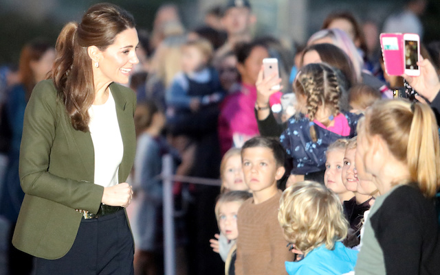 Britain's Catherine, The Duchess of Cambridge, meets with families and members of service personnel from RAF Akrotiri, a British military base in Cyprus, near the city of Limassol, Cyprus, December 5, 2018. REUTERS/Yiannis Kourtoglou