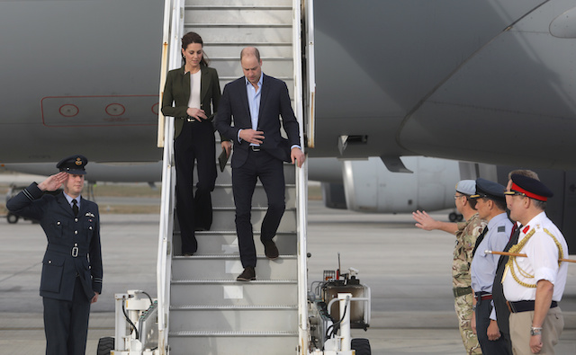 Britain's Prince William and Catherine, The Duchess of Cambridge arrive to attend a Christmas Party for the families of service personnel from RAF Akrotiri, a British military base in Cyprus, near the city of Limassol, Cyprus, December 5, 2018. REUTERS/Yiannis Kourtoglou