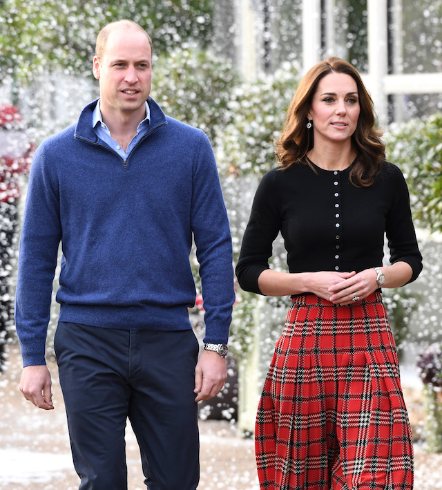 Prince William, Duke of Cambridge and Catherine, Duchess of Cambridge host a Christmas party to deliver a message of support to deployed personnel serving in Cyprus and their families over the festive period, at Kensington Palace on December 04, 2018 in London, England. Approximately 7,500 military personnel are currently serving overseas at Christmas. (Photo by Stuart C. Wilson/Getty Images)