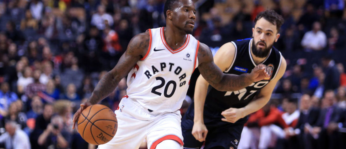 TORONTO, ON - OCTOBER 5: Kay Felder #20 of the Toronto Raptors dribbles the ball during the second half of an NBA preseason game against Melbourne United at Scotiabank Arena on October 5, 2018 in Toronto, Canada. NOTE TO USER: User expressly acknowledges and agrees that, by downloading and or using this photograph, User is consenting to the terms and conditions of the Getty Images License Agreement. (Photo by Vaughn Ridley/Getty Images)