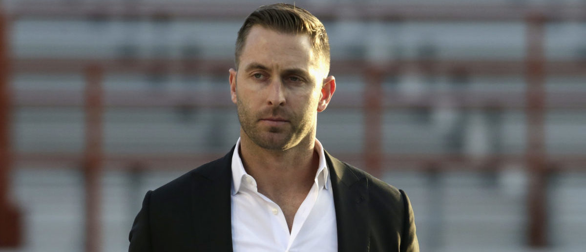 AUSTIN, TX - NOVEMBER 24: Head coach Kliff Kingsbury of the Texas Tech Red Raiders surveys the field as the team arrives before the game against the Texas Longhorns at Darrell K Royal-Texas Memorial Stadium on November 24, 2017 in Austin, Texas. (Photo by Tim Warner/Getty Images)