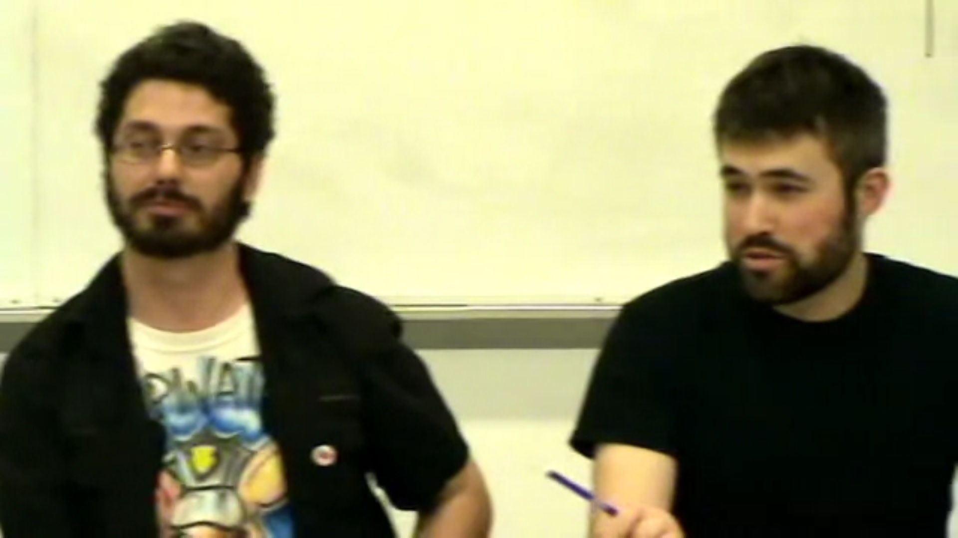 "Jose Alcoff (left) and Mark Bray (right) at Left Forum 2015. Alcoff was introduced as ""Jose Martin,"" and a member of the audience identified him as ""Chepe"" during the question-and-answer session. (Screenshot/YouTube)"