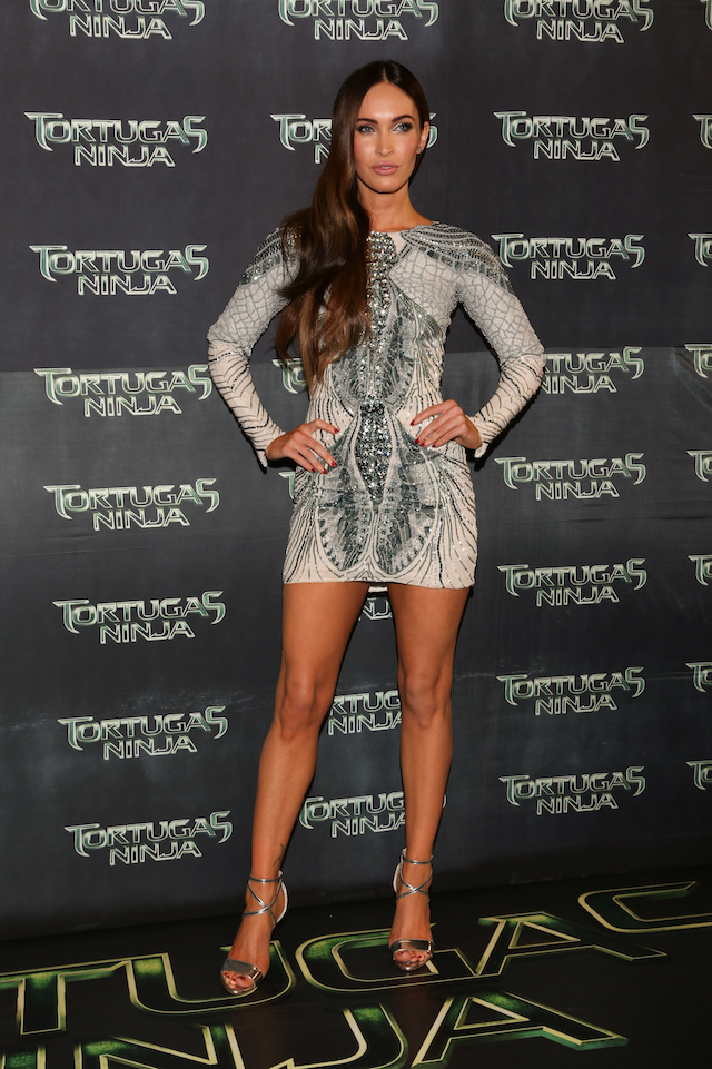 "American actress Megan Fox attends the Latin American Premiere of Paramount Pictures' ""TEENAGE MUTANT NINJA TURTLES"" at Cinepolis Acoxpa, on July 29, 2014 in Mexico City, Mexico. (Photo by Victor Chavez/ Getty Images for Paramount Pictures International)"