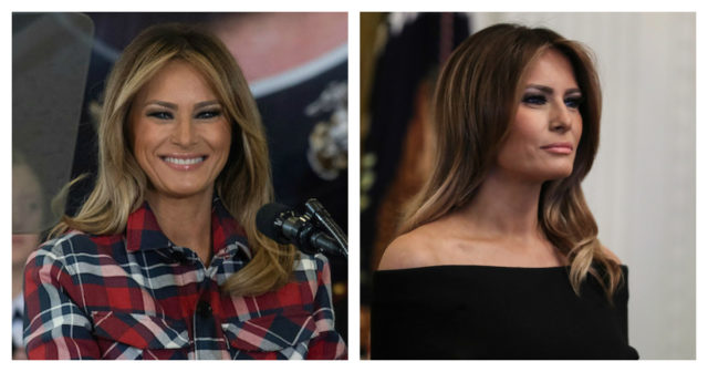 Melania side by side PicMonkey Collage (Photo: Getty Images)