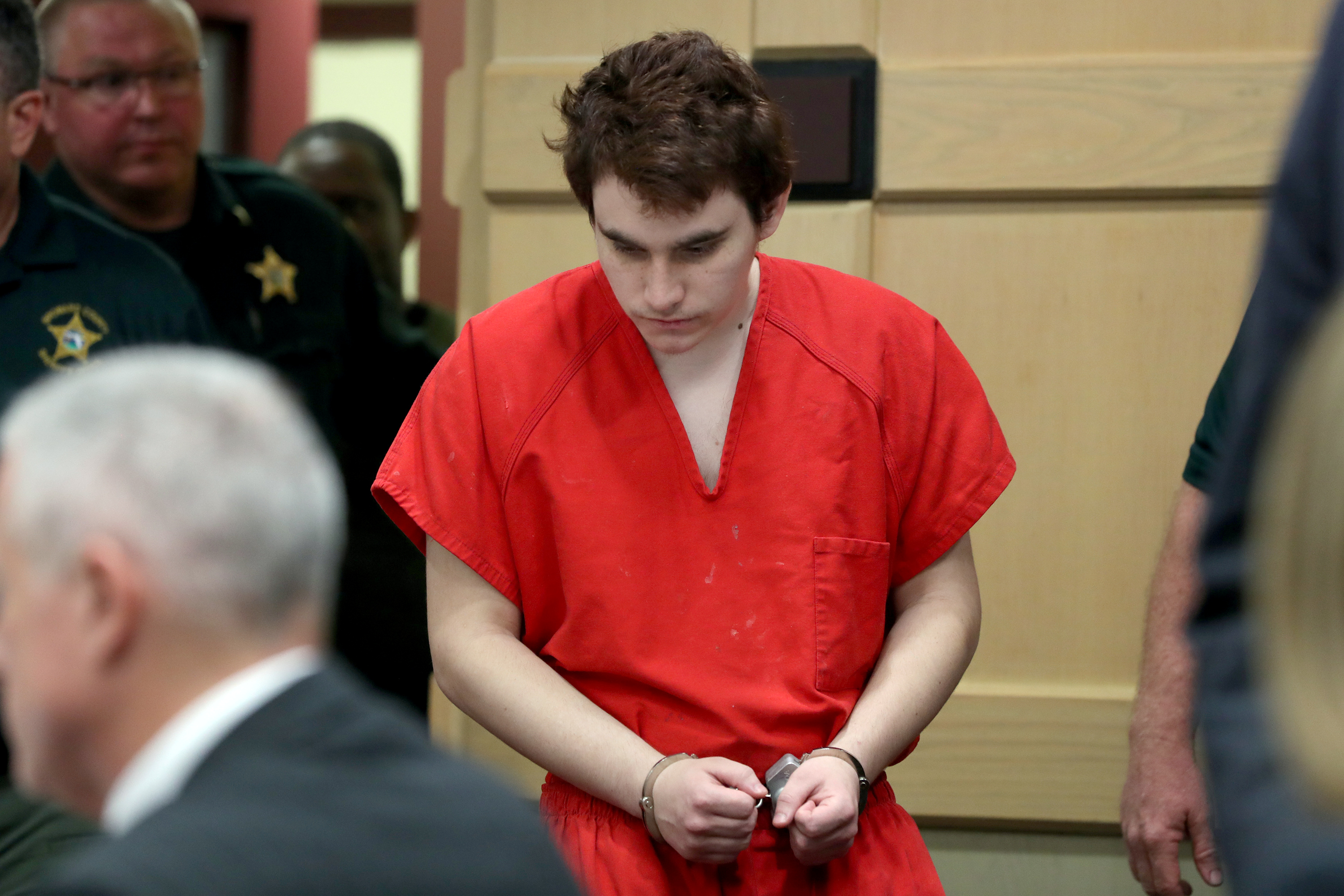 Accused Parkland High School shooter Nikolas Cruz enters the courtroom prior to a hearing at the Broward County Courthouse in Fort Lauderdale, Florida, U.S., September 26, 2018. Amy Beth Bennett/South Florida Sun Sentinel/Pool via REUTERS