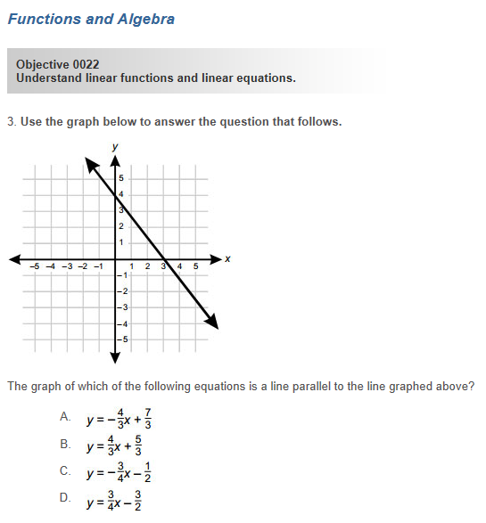 Sample questions on the Pearson math exam for an educator's license. Screenshot/Courtesy of Pearson Education, Inc.