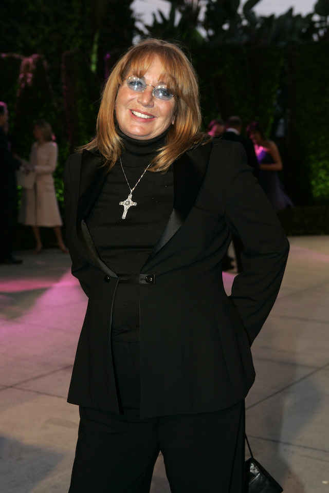 Penny Marshall arrives at the 2005 Vanity Fair Oscar Party at Morton's in West Hollywood February 27, 2005. REUTERS/ Kimberly White