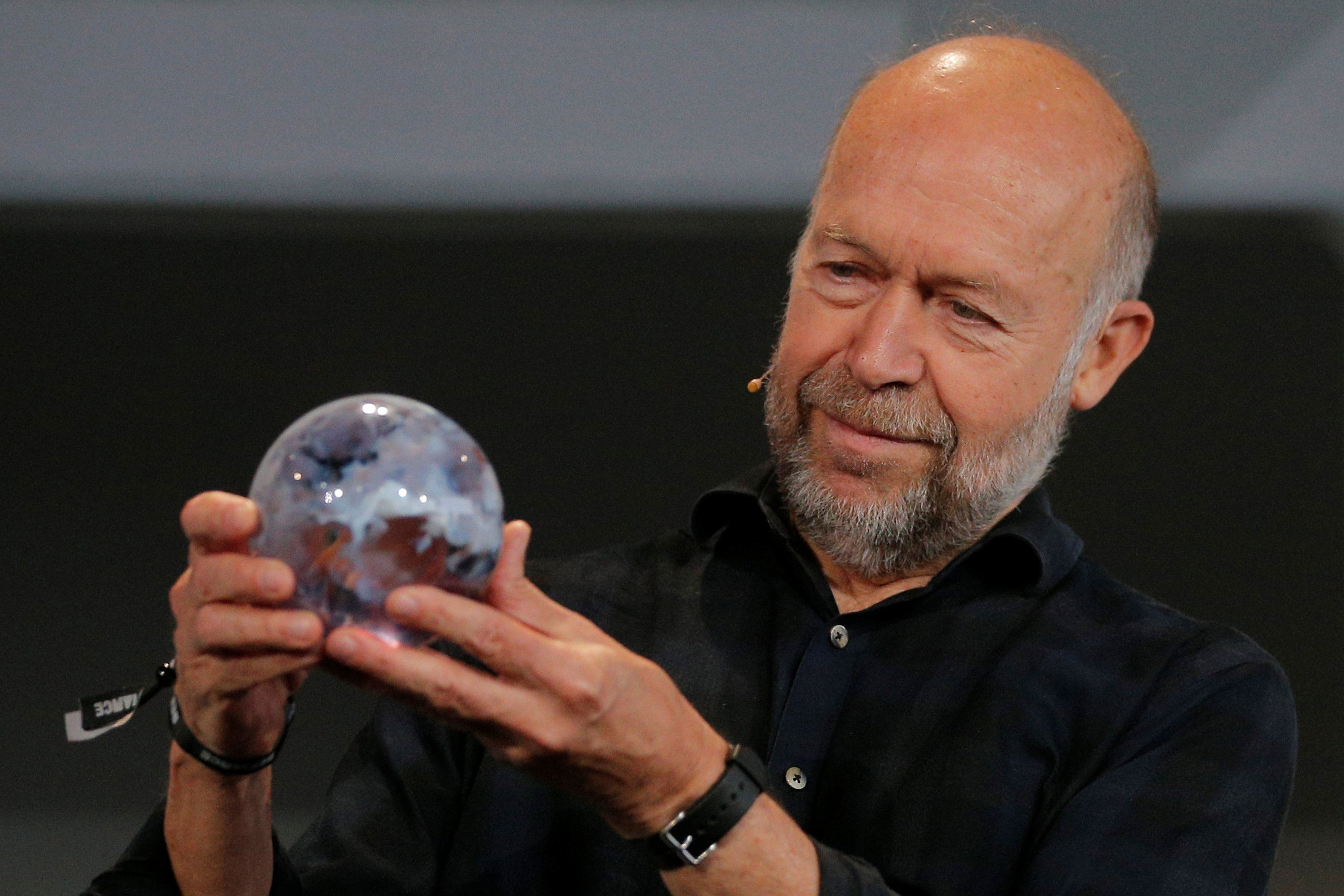 "Climate change scientist Dr. James Hansen is honored during ""Defiance!"" at Massachusetts Institute of Technology in Cambridge"