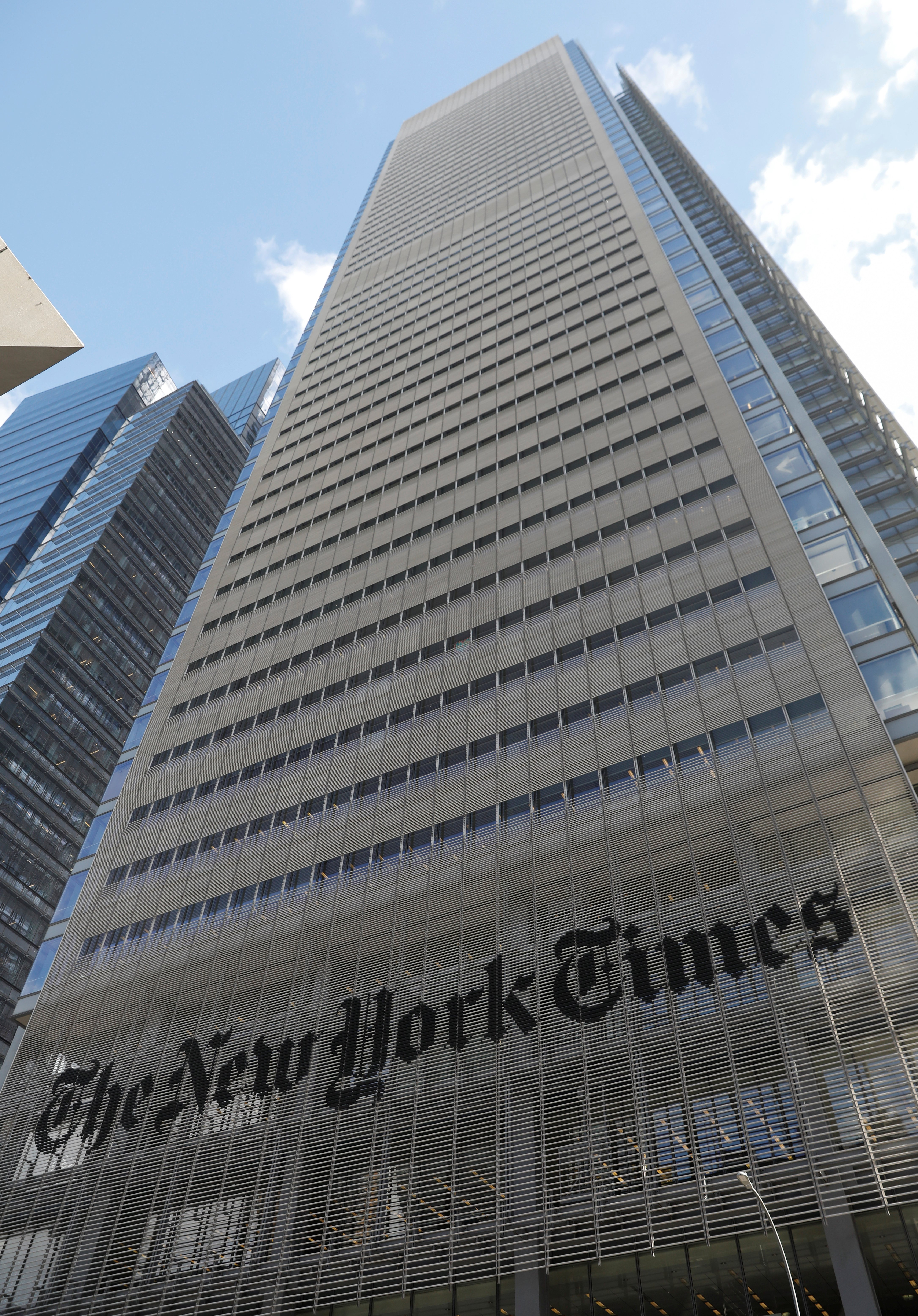 The New York Times building is seen in Manhattan, New York