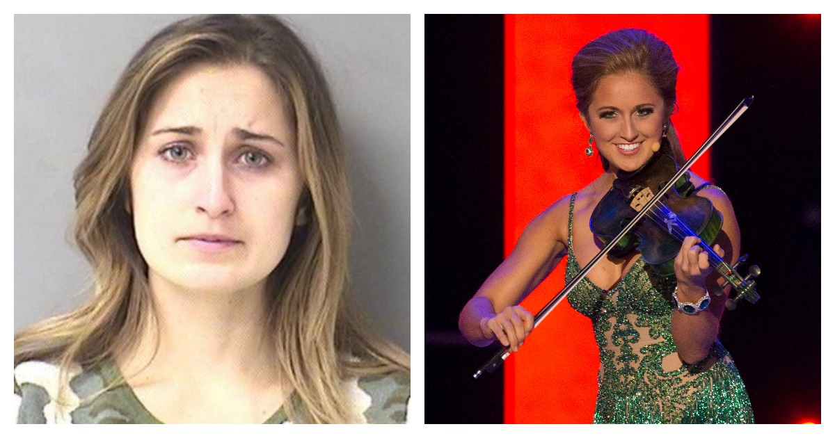 Former Miss Kentucky Ramsey Bearse was arrested for allegedly sending nude pictures to a student. Left, Screenshot/ Kanawha County Sheriff's Department/ Right, REUTERS/Adrees Latif