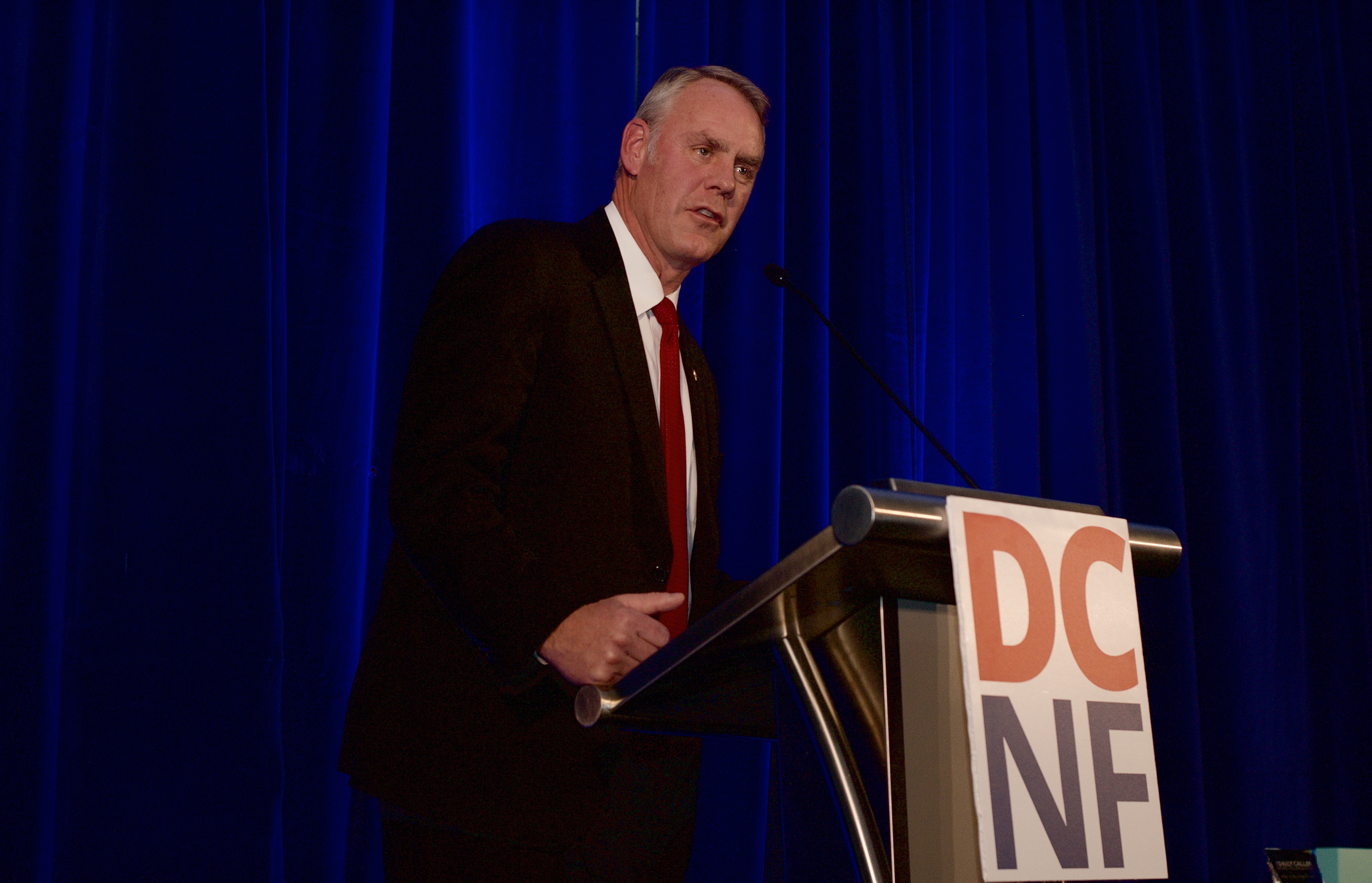 Interior Secretary Ryan Zinke at the inaugural Daily Caller News Foundation gala. (Grae Stafford/Daily Caller News Foundation)
