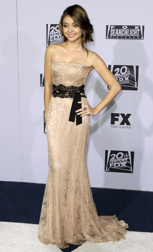 Actress Sarah Hyland arrives at the FOX after party after the 69th annual Golden Globe Awards in Beverly Hills, California January 15, 2012. REUTERS/Jonathan Alcorn