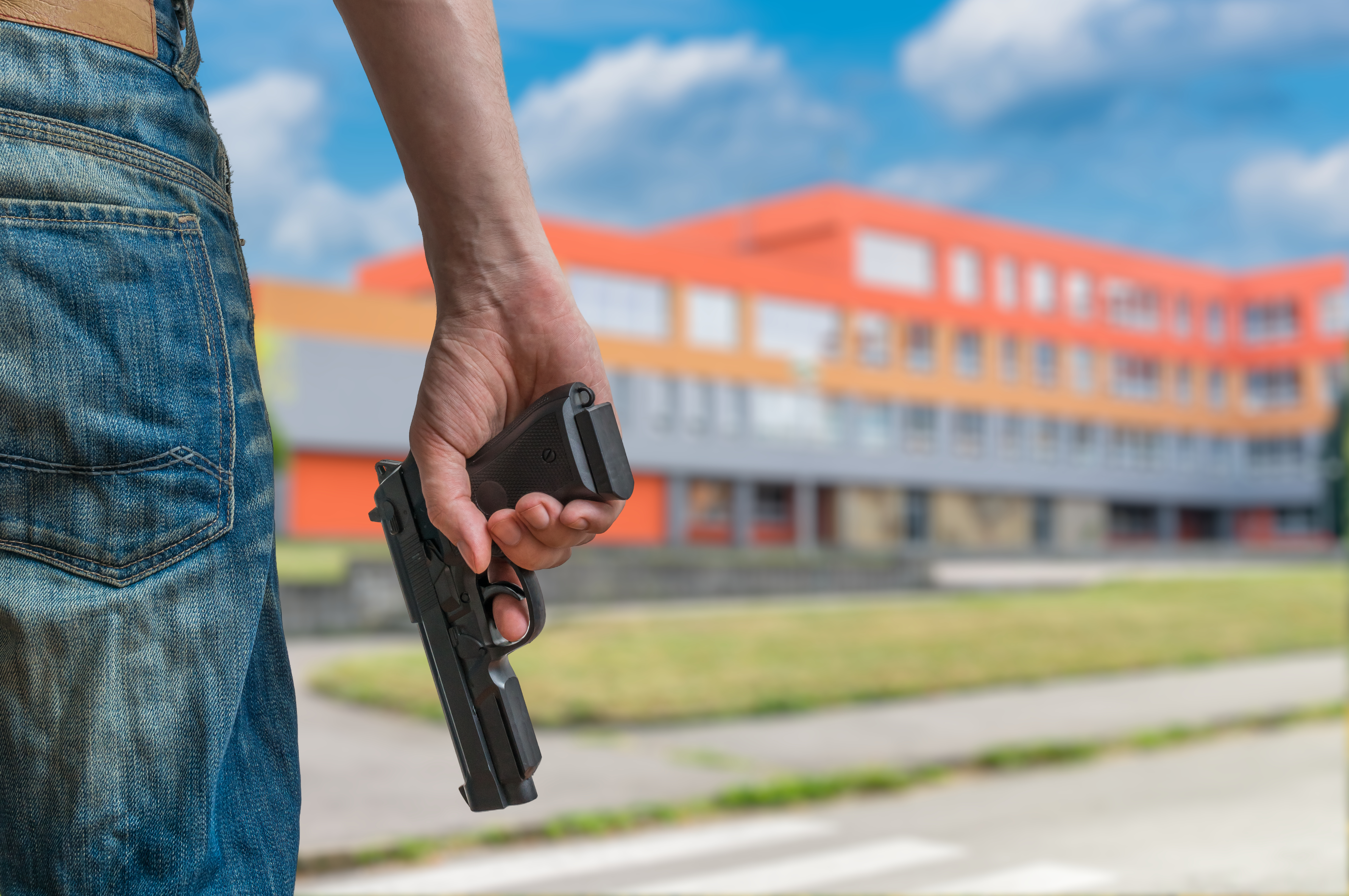 Pictured is a representation of a school shooter. SHUTTERSTOCK/ vchal