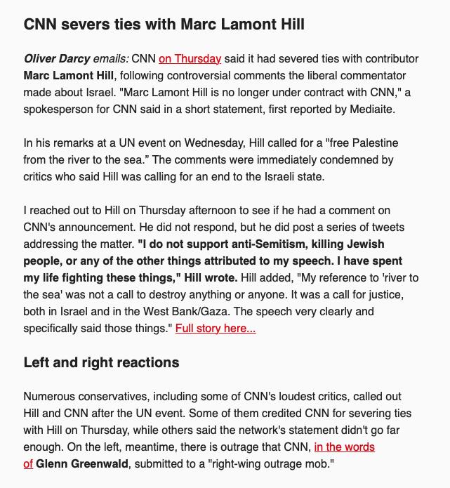 CNN's Reliable Sources Newsletter (Screenshot: November 30, 2018)