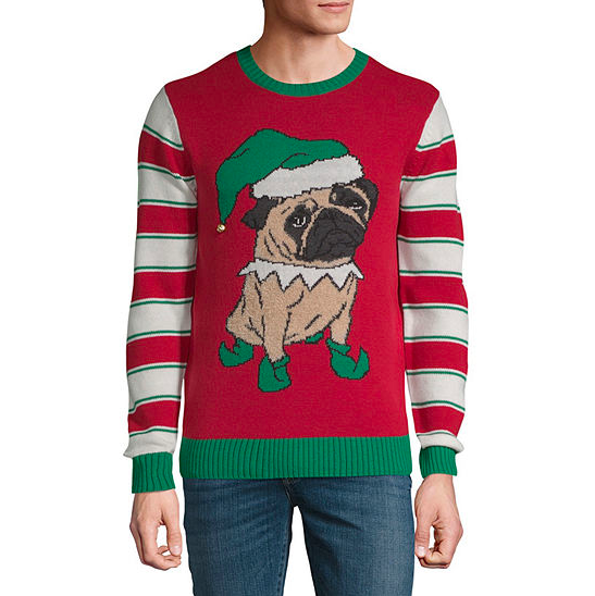 Normally $64, this ugly Christmas sweater is 60 percent off (Photo via JC Penney)