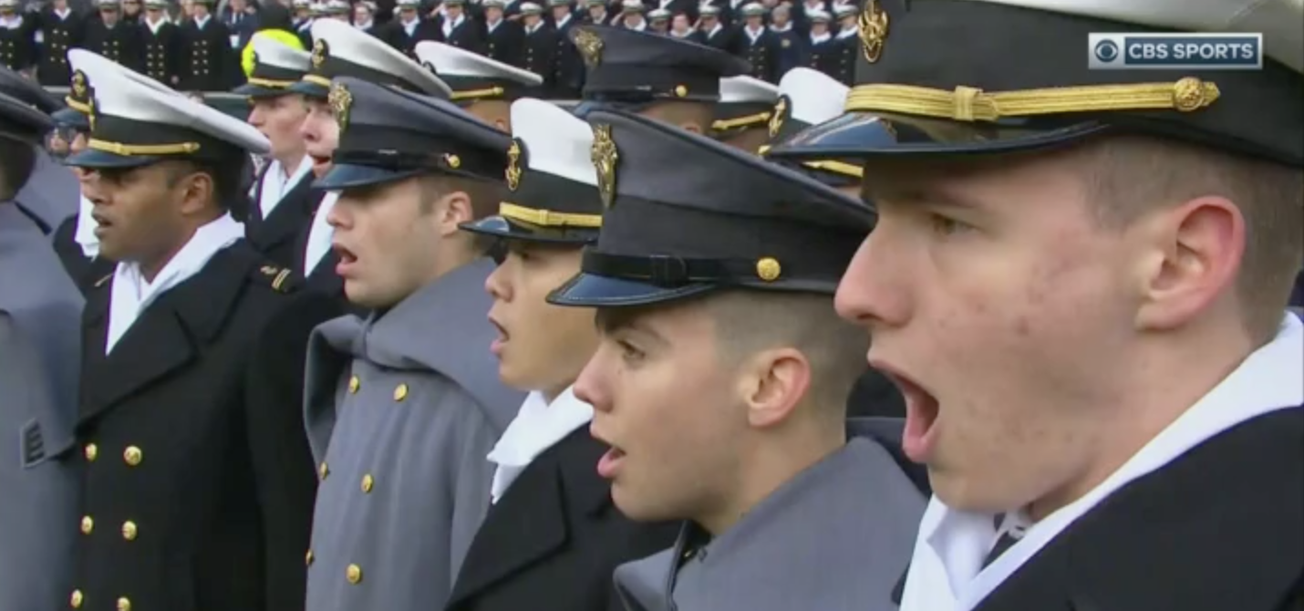 Army Navy Game S Stunning National Anthem Rendition Puts Every
