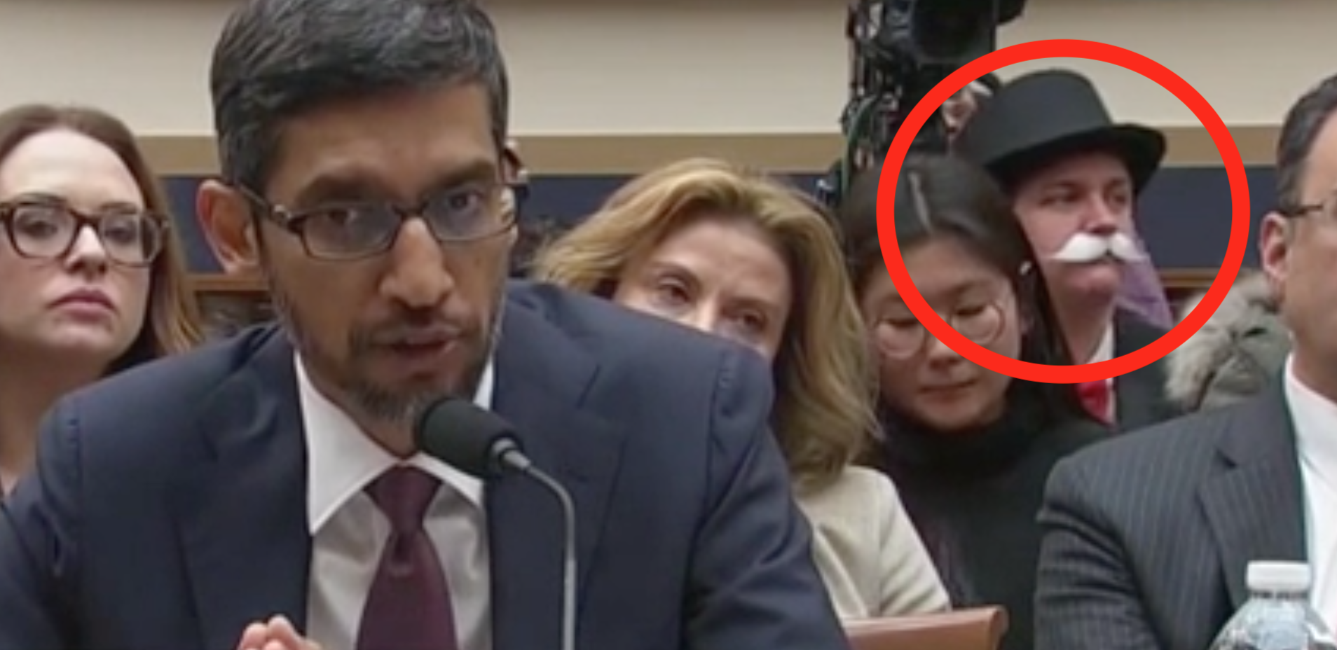 'Monopoly Man' Shows Up To Protest Google At Congressional Hearing