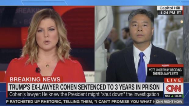Rep. Ted Lieu on CNN (CNN Screenshot 12/12/2018)