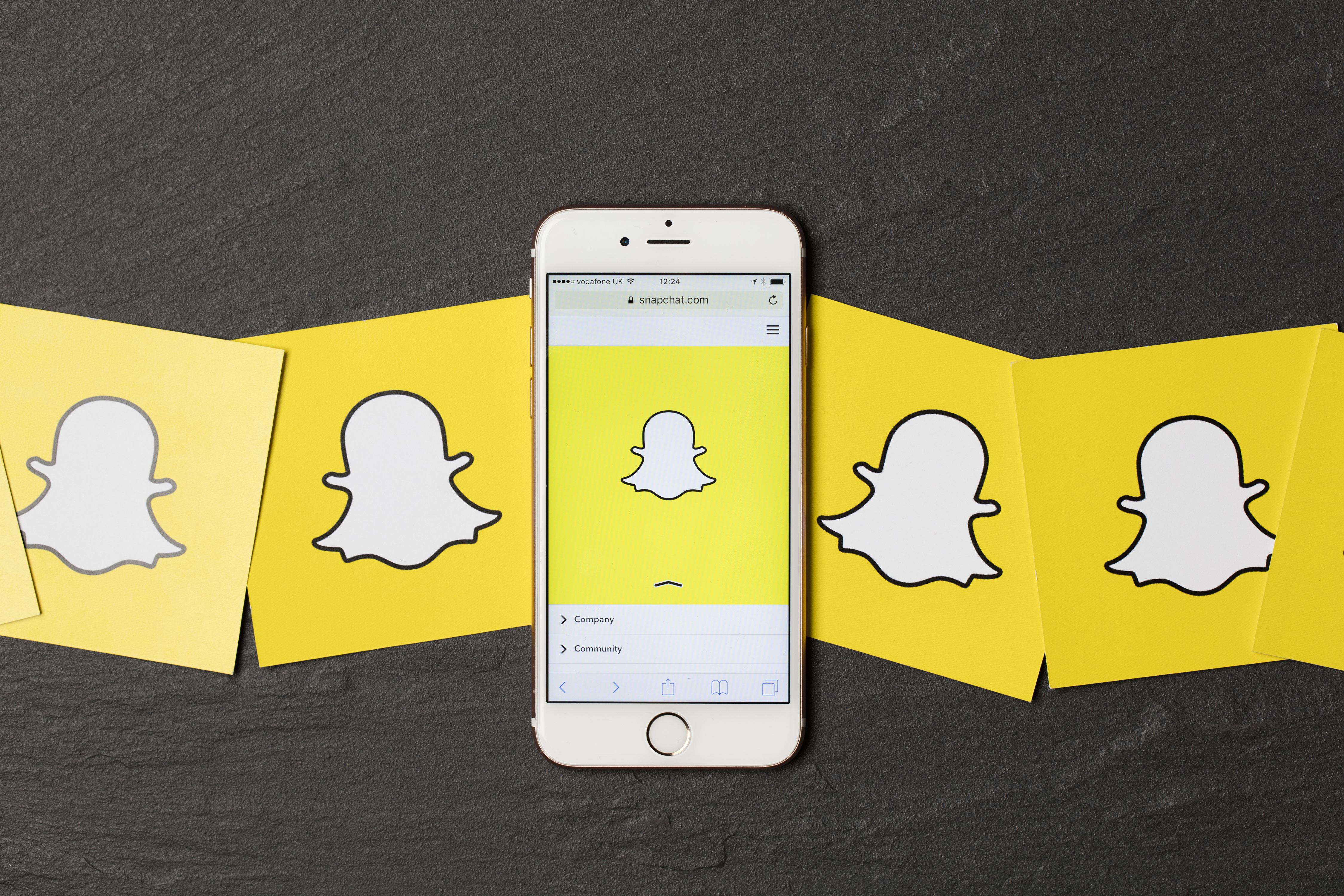Pictured is the phone app Snapchat. SHUTTERSTOCK/ Ink Drop