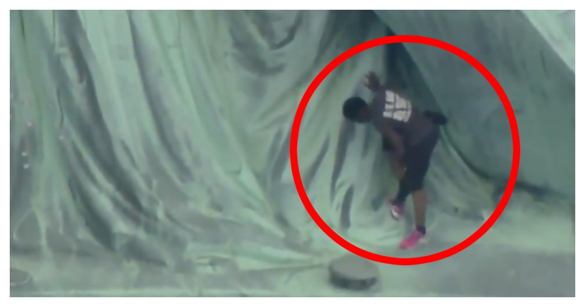 The woman who climbed the Statue of Liberty on July 4 was convicted. Screenshot/WCBS