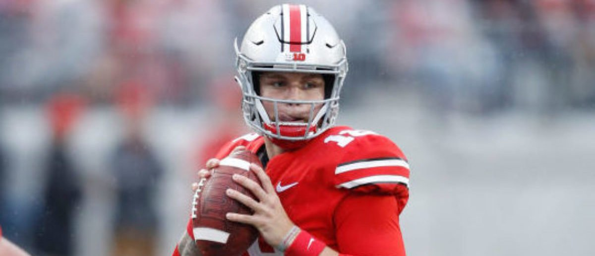 online store dec52 883a9 Miami Quarterback Tate Martell Granted Immediate Eligibility Waiver.  COLUMBUS, OH - SEPTEMBER 08  Tate Martell  18 of the Ohio State Buckeyes