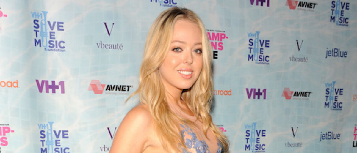 """Tiffany Trump at VH1 Save The Music Foundation's """"Hamptons Live"""" benefit hosted by Billy and Julie Macklowe at a private estate in Sagaponack, NY on August 8, 2015. (Photo by Matthew Eisman/Getty Images for Vh1 Save The Music)"""
