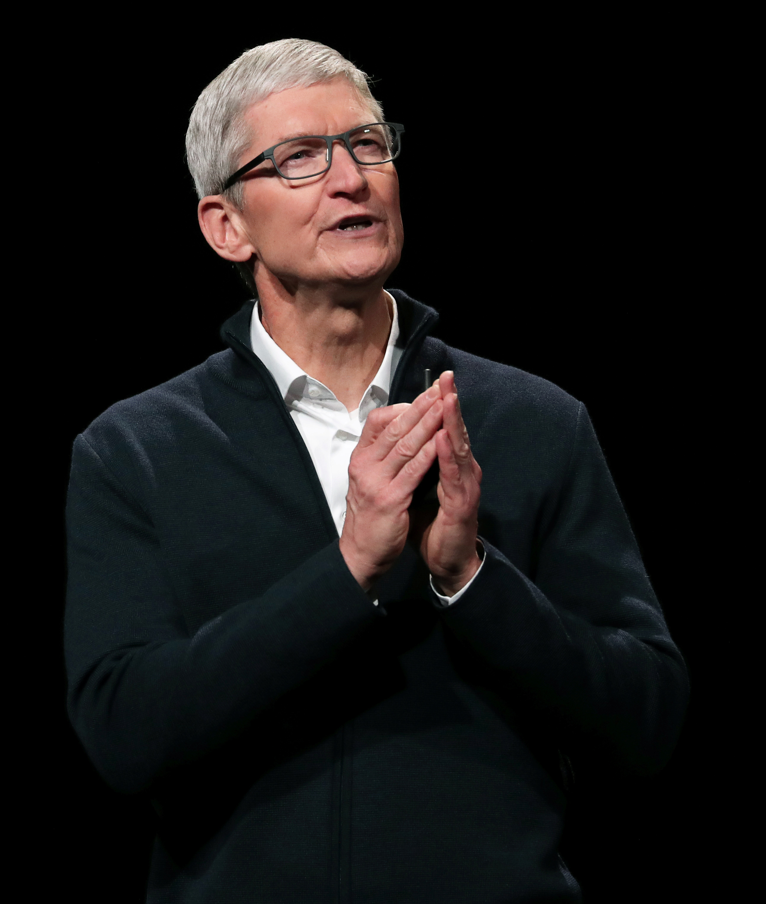 Apple CEO Tim Cook speaks during an Apple launch event in the Brooklyn borough of New York, U.S., October 30, 2018. REUTERS/Shannon Stapleton