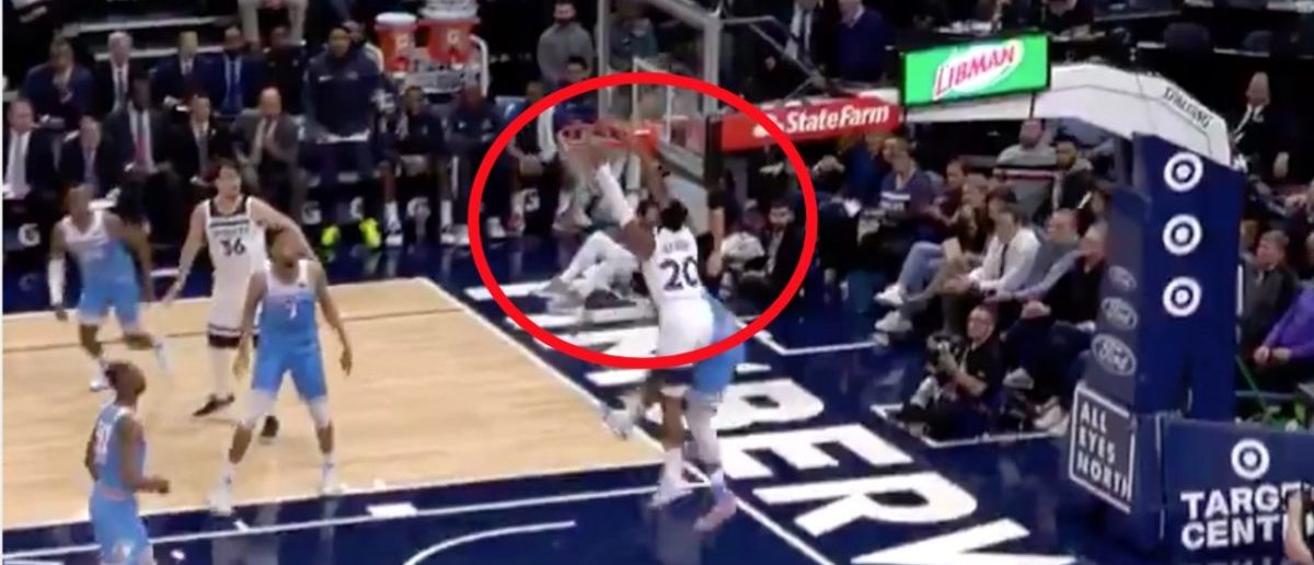Nba Player Throws Down Sickening Alley Oop The Video Will Have