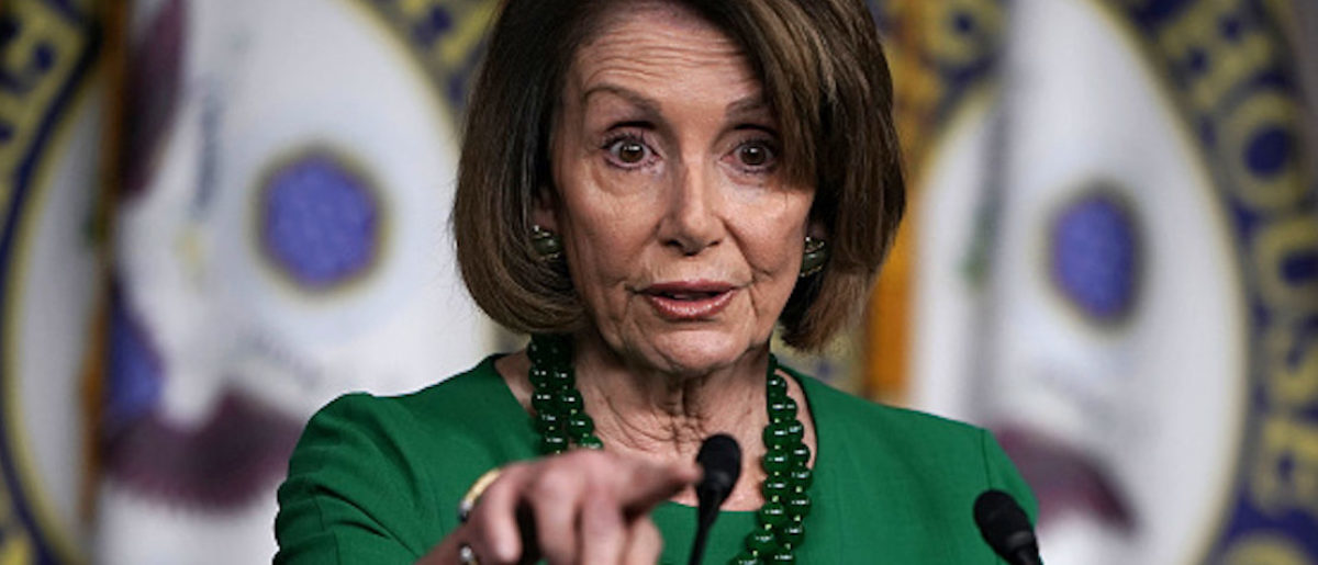 WASHINGTON, DC - DECEMBER 06: U.S. House Minority Leader Rep. Nancy Pelosi (D-CA) speaks during her weekly news conference December 6, 2018 in Washington, DC. Pelosi held her weekly news conference to answer questions from members of the media. (Photo by Alex Wong/Getty Images)