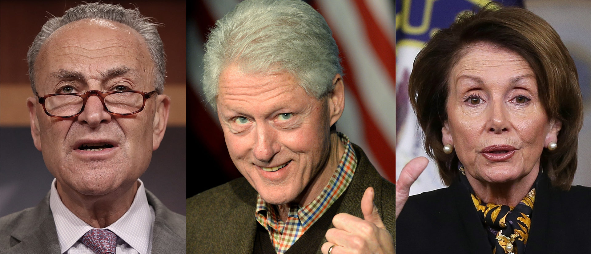 Pelosi And Schumer Should Take A Lesson From Bill Clinton/ Getty Images Collage