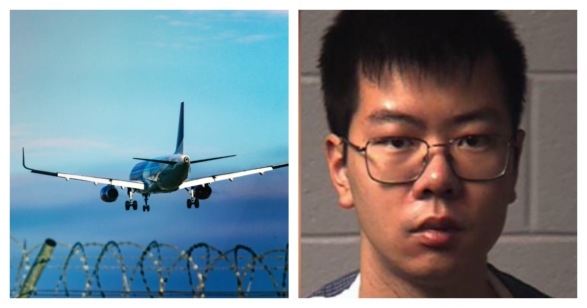 A former Lehigh University student was accused of deporting himself to avoid punishment. Left, SHUTTERSTOCK/bez_bretelky/ Right, Screenshot/North Hampton District Attorney's Office