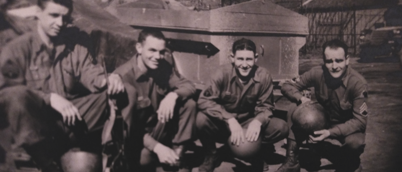 SSG William F. Greenplate (far right) with American troops in Belgium, 1945. Virginia Kruta/The Daily Caller