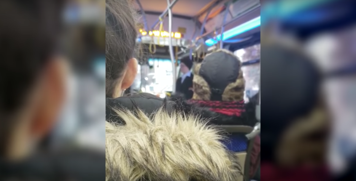 A transperson made a scene on a Washington, D.C. bus, creating a nuisance for other patrons and riders. (Youtube)