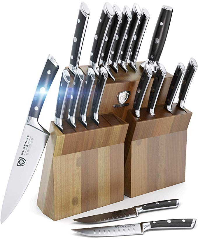 Normally $1200, this knife block set is 75 percent off today (Photo via Amazon)