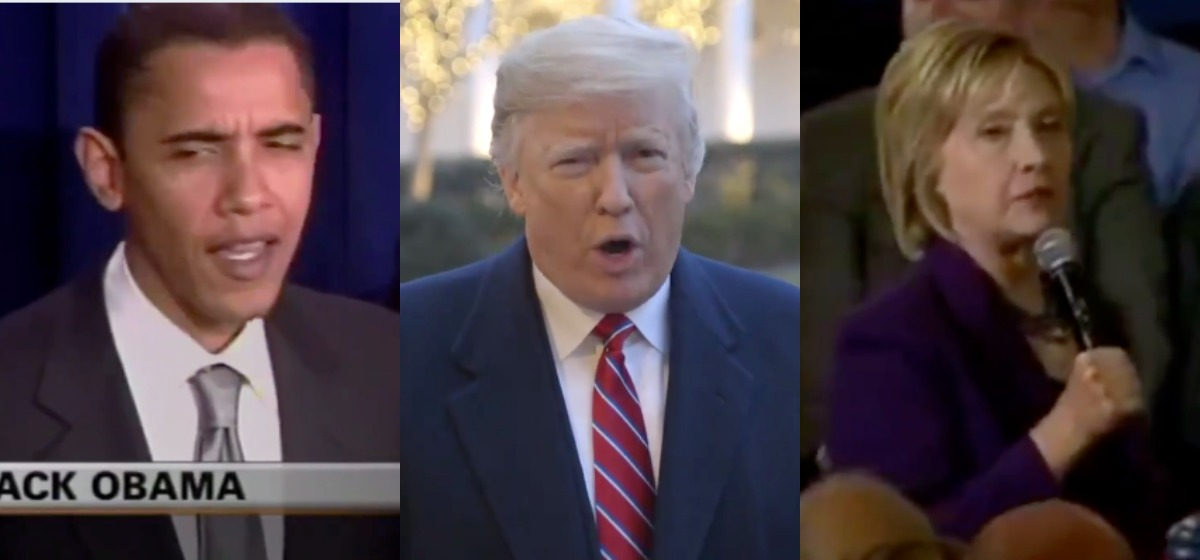 Trump Shares Old Videos Of Schumer, Hillary, Obama Supporting A Border Wall [Donald Trump/Twitter]