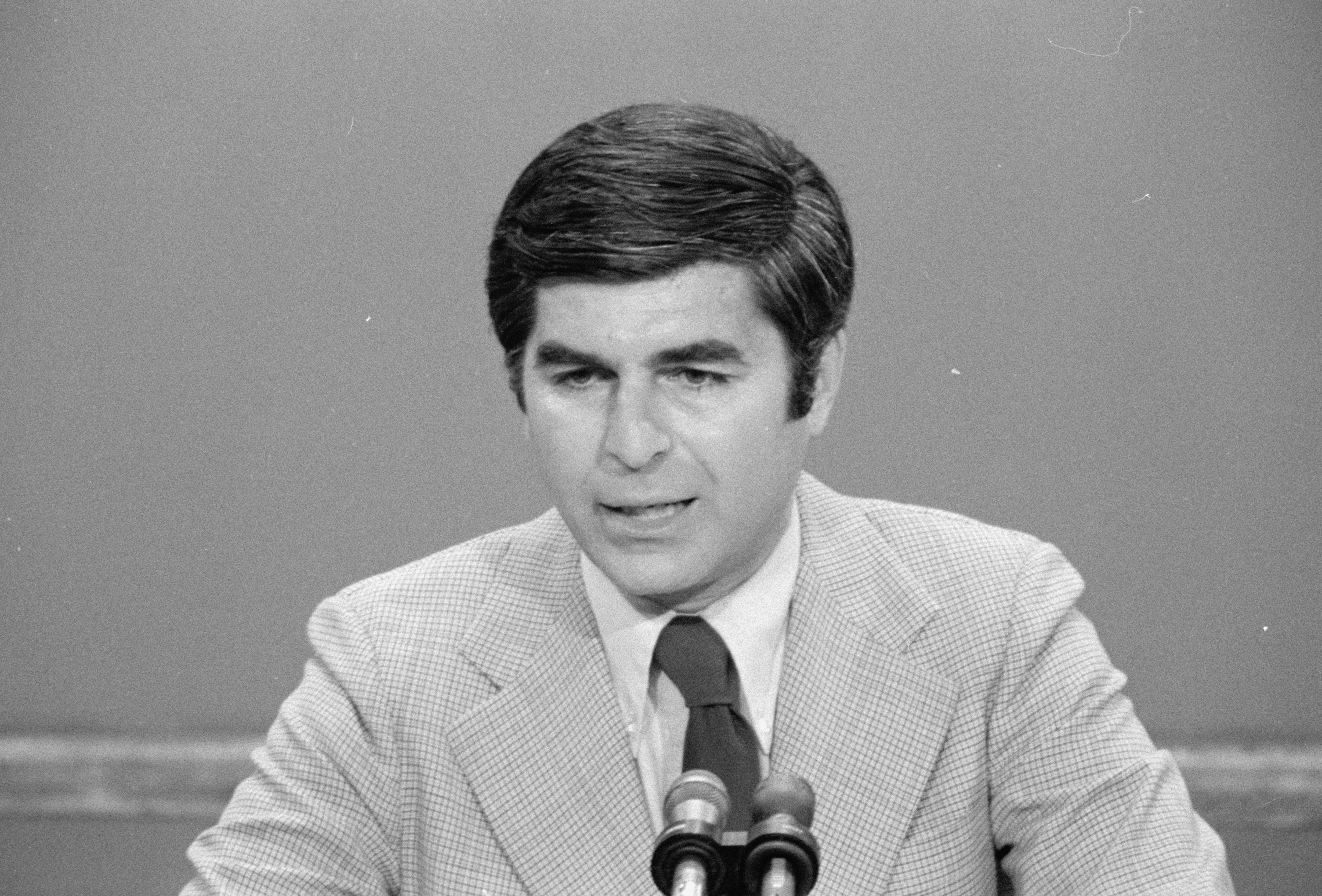 Governor of Massachusetts Michael Dukakis at the Democratic Convention in New York City, U.S. in 1976. Library of Congress/Thomas J. O'Halloran/Handout