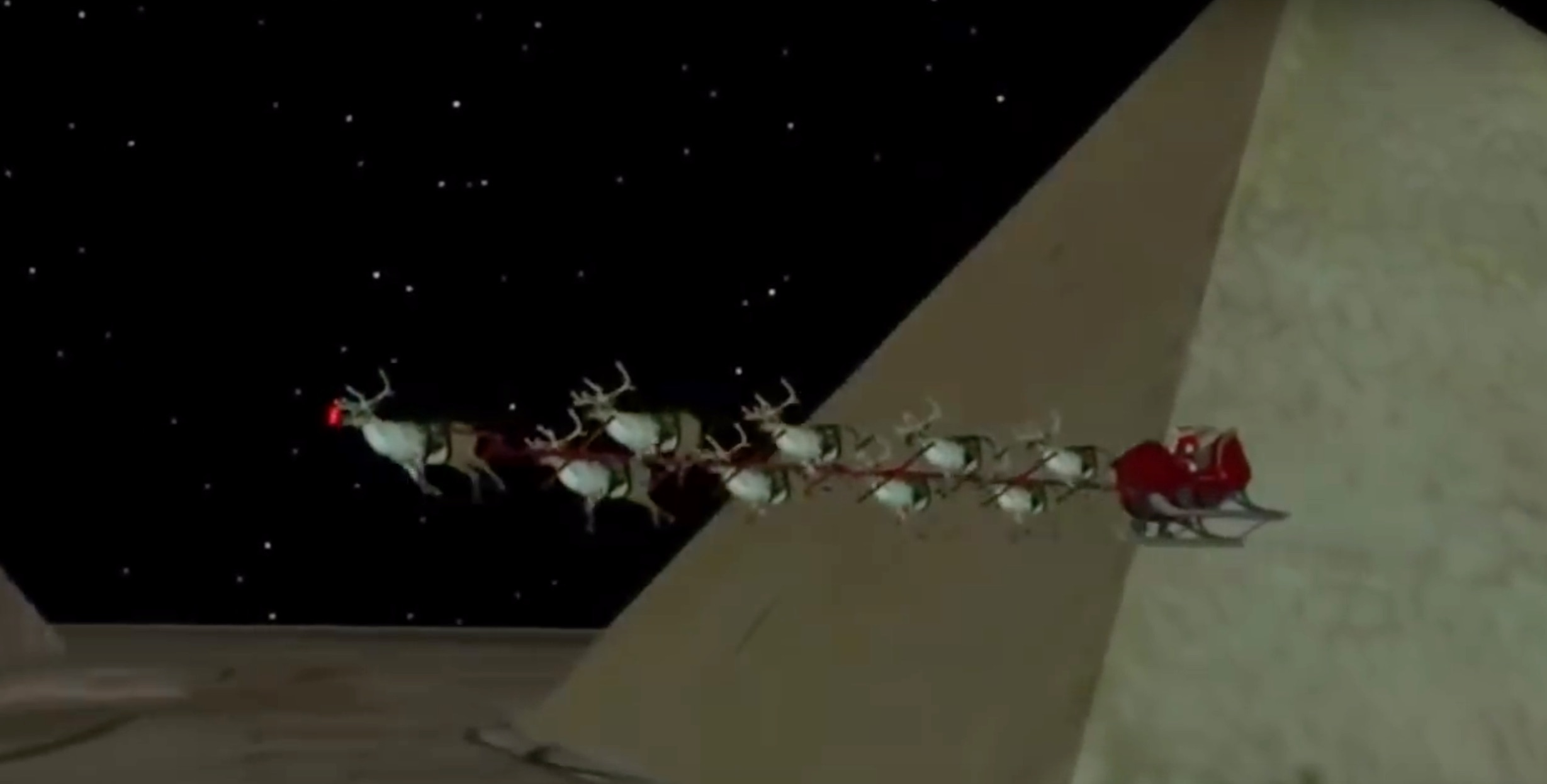 NORAD tracks Santa Claus in 2017. Screen Shot/YouTube/TBZ Trackers