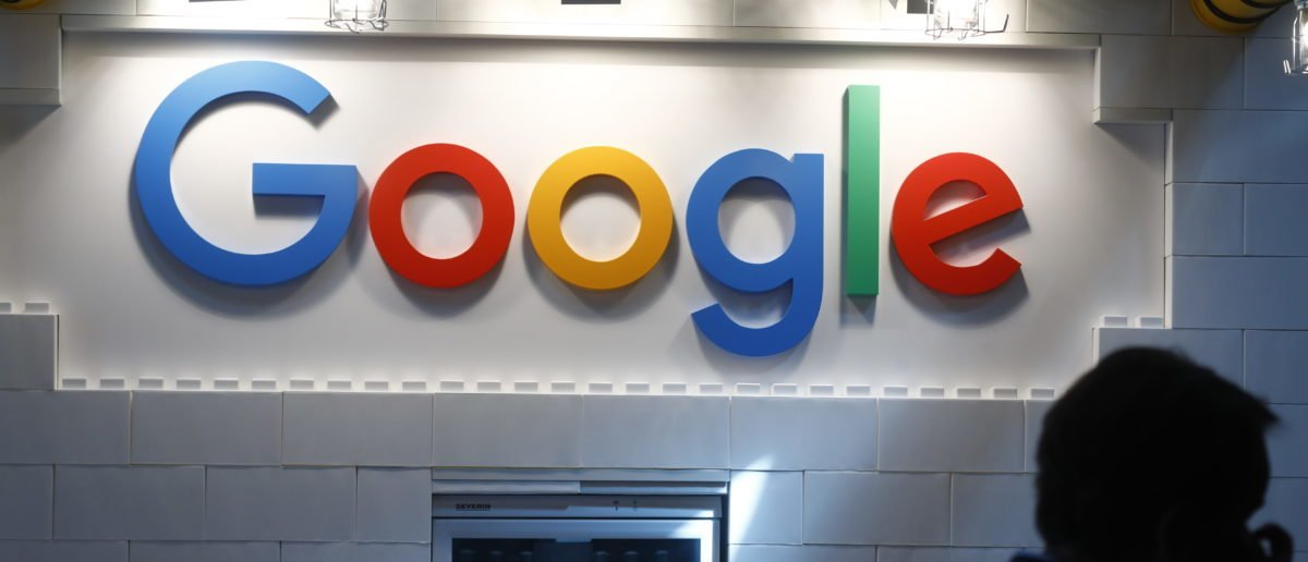 The Google logo stands on display at the 2018 NOAH conference on June 6, 2018 in Berlin, Germany. (Photo by Michele Tantussi/Getty Images)