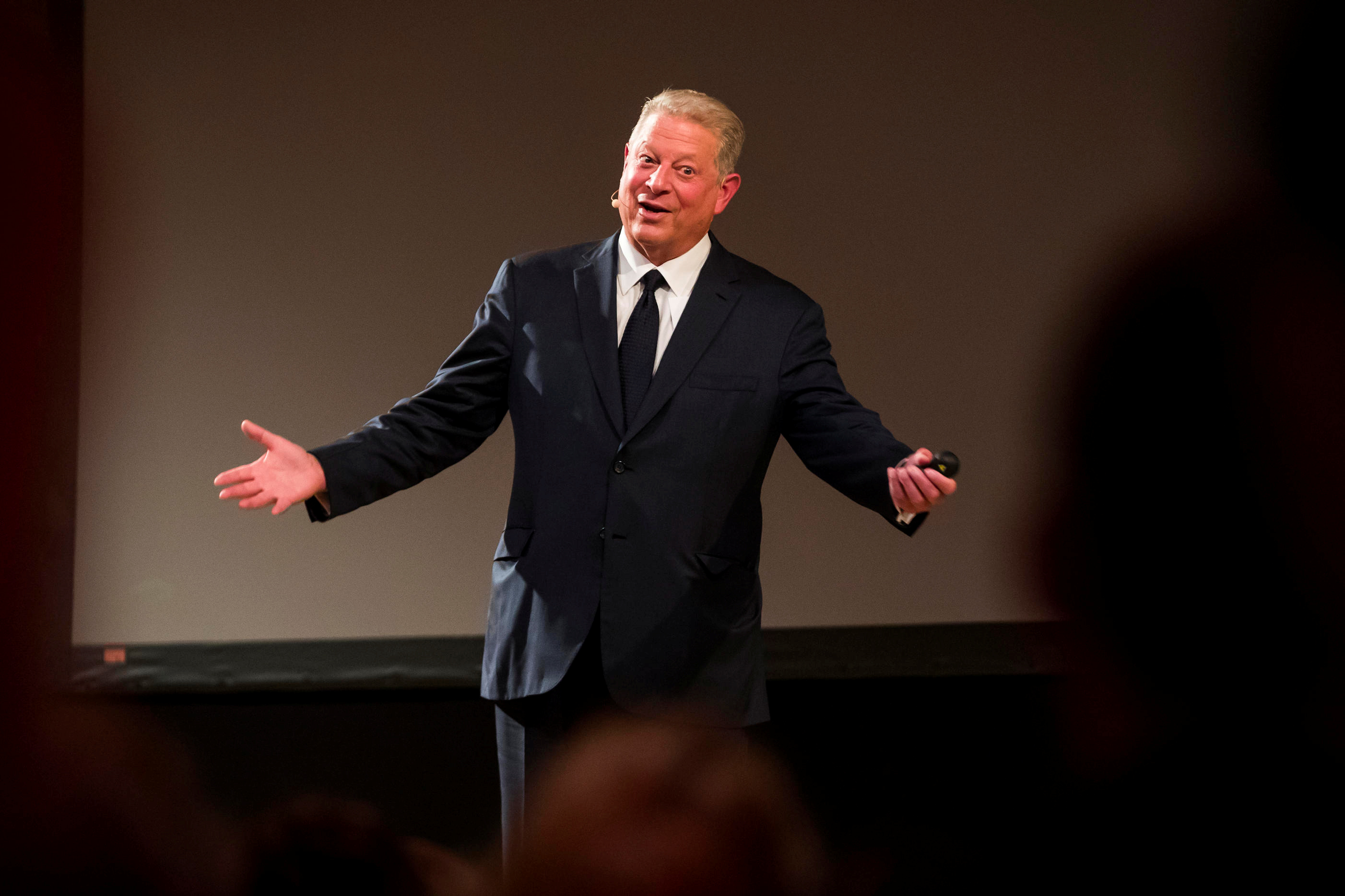 Al Gore, U.S. former Vice President and Nobel Peace Prize winner, speaks at the Grieginvestor conference in Oslo, Norway November 7, 2018. Heiko Junge/NTB Scanpix/via REUTERS