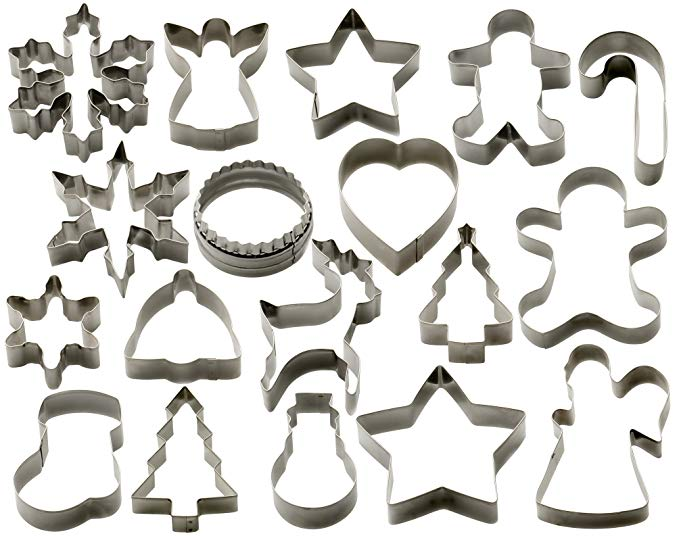 Normally $28, this 18-piece cookie cutter set is 31 percent off (Photo via Amazon)