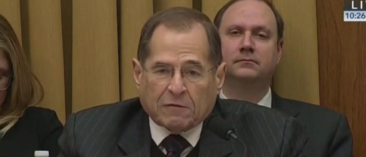 New York Democrat Jerry Nadler delivered opening remarks at a House Judiciary Committee hearing on Google on Dec. 11, 2018. Grabien screenshot